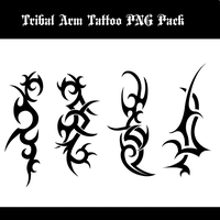 Tribal Arm Tattoo PNG Pack by DavidDarkheartKing