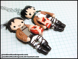 Eren and Levi BFF Set by GrandmaThunderpants