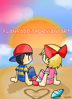 Ness And Paula by FlanRabbit