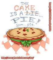 The cake is a... Pie? by amegoddess