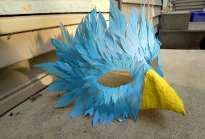 Azure Bird Mask - different view by raena-nayrue