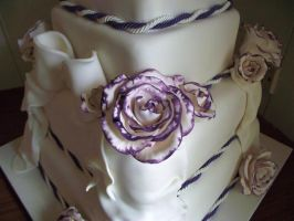 Tristan And Sharon's Wedding Cake Roses by elyobkram