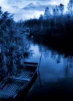 boat on the river by Jasmina-S