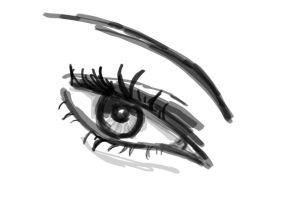 Sketch practise of an eye by Vicky100296
