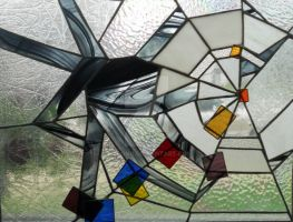 Abstract Spider stain glass by MJLong
