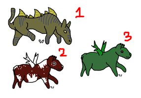 Mythical adopts! 1 point each! by DarkParadise24