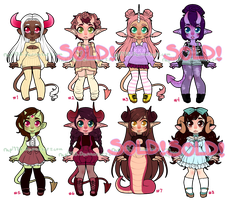 Monster Girls Set 12 OPEN *ON SALE* PRICES LOWERED by rap1993