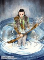Loki God of misunderstood broken heart by Saku-Zelda