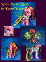 Green Orchid Flower Sprite Custom MLP by BarbedDragon