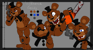 Withered Freddy ref. sheet by SideshowFreddy
