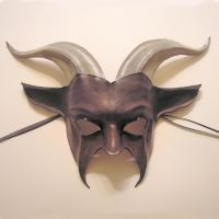 Leather Goat Mask, greys by teonova