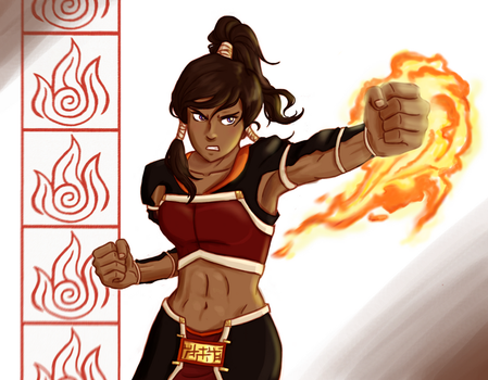 Korra the Firebender by punker--rocker