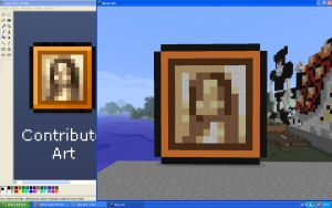 Minecraft - Pixel art Mona Lisa by unusual229