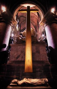 Inside Notre Dame cathedral by GordonTarpley