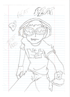 Jet Set Radio Drawing Beat by dpmm07