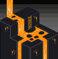 Pixel Art - Lava level by Fergtron