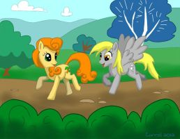 Carrot Top and Derpy by NetRaptor