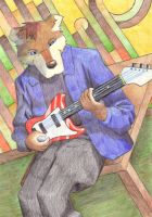 Bear with Guitar by BrownWolfFM