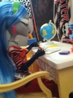 Shh... I'm Working by LunnarEclipse