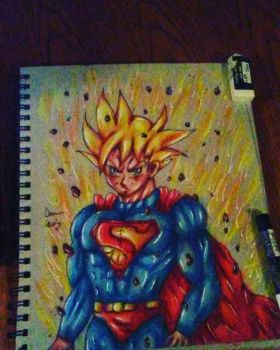 Goku our superman  by xprotector10
