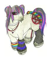 Emo My Little Pony REDESIGN by cresent-lunette