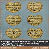 FREE Dictionary Vintage Clip Art Images {Hearts} by pixelberrypie