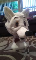 .:Heh:. I finished my fursuit head:. by qalaxybutt