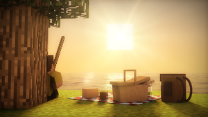 Fishing in the Sunset [Minecraft] by Weed-Lion