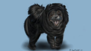 Black Chow by Faircloth-DigiTalArt