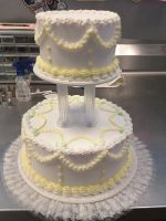 2-tier wedding cake by AingelCakes