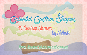 Colorful Custom Shapes by melismerve22