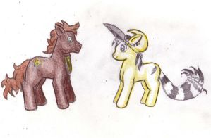 9  and 7 as MLP ponies by Pickledsuicune