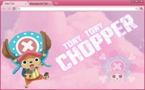 One Piece Google Chrome Theme: Tony Tony Chopper by yohohotralala