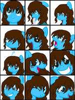 pony!Naomi Faceset Icons by ShannaHeart