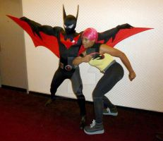 Batman Beyond and Max READY FOR ACTION! by BatmanBeyondfan2009