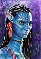 Avatar Neytiri Sketch Card by AlexBuechel