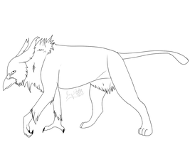 Free to use Griffin Lineart by Whitelupine
