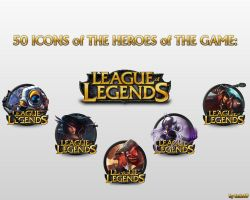 50 icons of the game League of Legends by fazie69