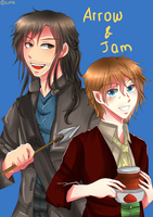 Arrow and Jam by lunallachi
