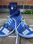 Doctor Who TARDIS shoes by Furious-Dee