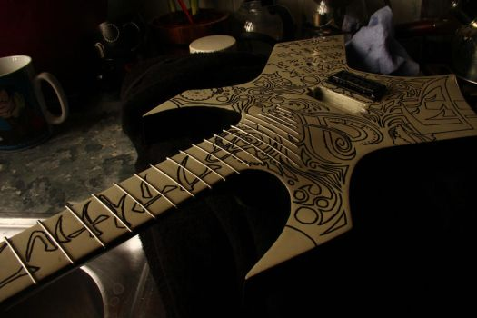 Final Fantasy Concept Guitar in the making by TMProjection
