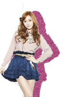SNSD Jessica Glitter Shadow [PNG] by PowerBerry10