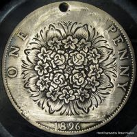 Bouquet hand engraved penny by shaun750