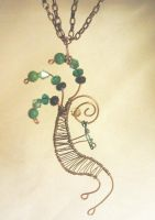 kokopelli pendant wire wrapped by Nimily