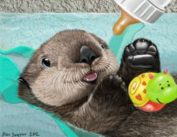 sea otter valentine by Psithyrus