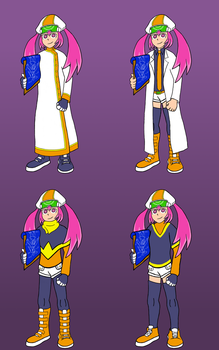Pink Call as Dr. Sanda - Various Outfits by JllyGrnGnt