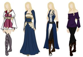 Frederique wardrobe reference by Amaethil
