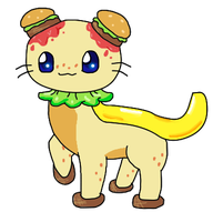 ADOPTABLE BURGER THING (CLOSED) by ForeverFluffyAdopts