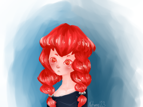 girl with red hair by Natassa123