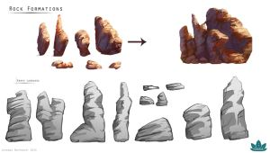 Project Oasis: Rock Formation Designs by Lyraina